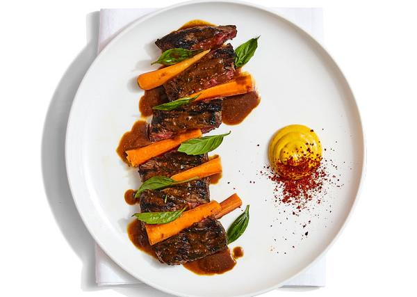 Sunda's steak with sunrise lime satay