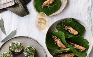 Brae's prawn head and kohlrabi tacos