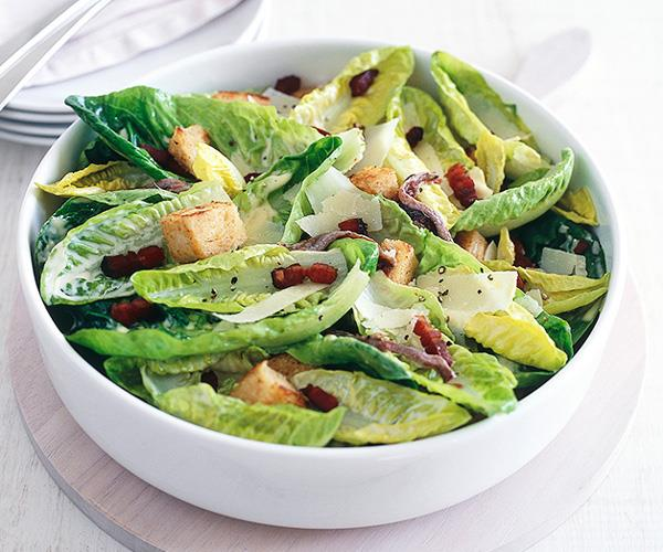 "[**Caesar salad**](https://www.gourmettraveller.com.au/recipes/fast-recipes/caesar-salad-9490|target=""_blank"")"