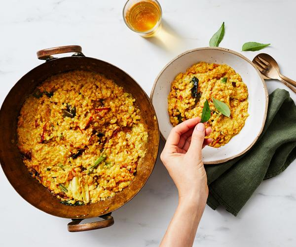 "**[How to make the perfect tempered dhal](https://www.gourmettraveller.com.au/recipes/explainers/tempered-dhal-17442|target=""_blank"")**"