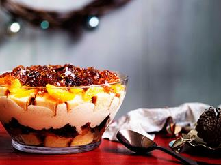 Boozy winey trifle