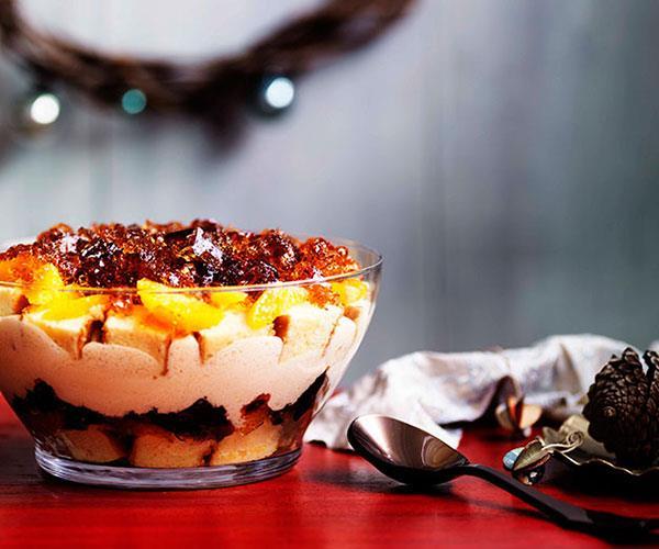 Boozy winey trifle