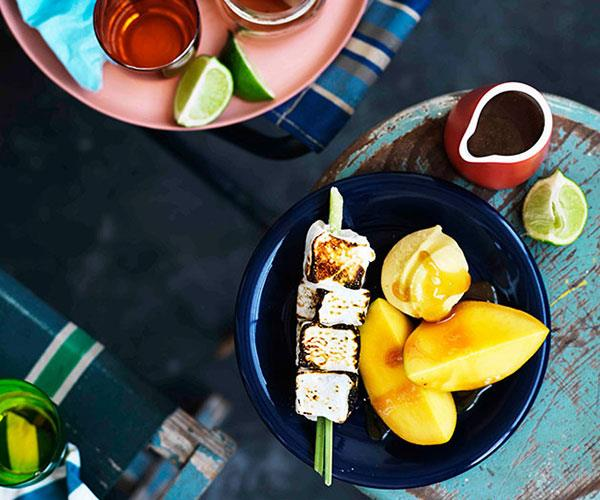 Toasted lime marshmallows with mango