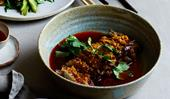 Tony Tan's braised beef brisket with chilli-oil sauce
