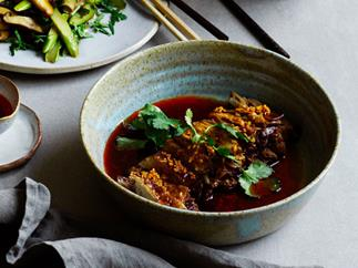 Beef brisket with chilli-oil sauce