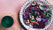 Beetroot, chickpea and za'atar salad