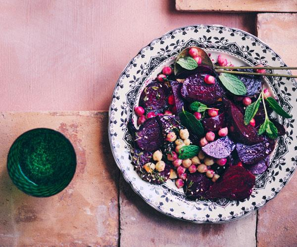 "**[Beetroot, chickpea and za'atar salad](https://www.gourmettraveller.com.au/recipes/browse-all/beetroot-chickpea-zaatar-salad-18024|target=""_blank"")**"