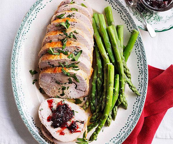 "[**Stephanie Alexander's turkey roll with sour cherry relish**](https://www.gourmettraveller.com.au/recipes/browse-all/stephanie-alexander-turkey-roll-with-sour-cherry-relish-10919|target=""_blank"")"