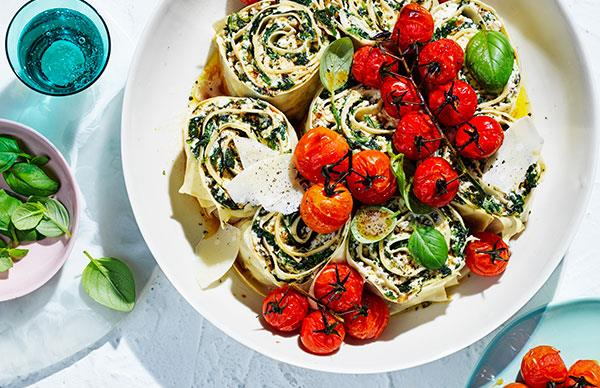 Spinach and ricotta rotolo