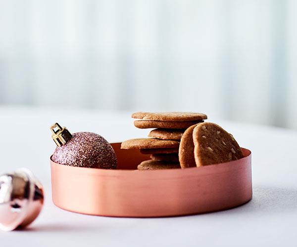 "**[Lauren Eldridge's brunkager (spiced Danish gingerbread biscuits)](https://www.gourmettraveller.com.au/recipes/chefs-recipes/brunkager-18044|target=""_blank"")**"