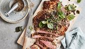 Mike McEnearney's flank steak with rosemary, capers and Sichuan pepper
