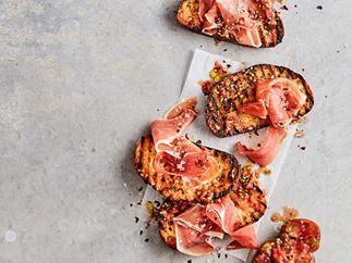 Mike McEnearney's tomato and jamón bread