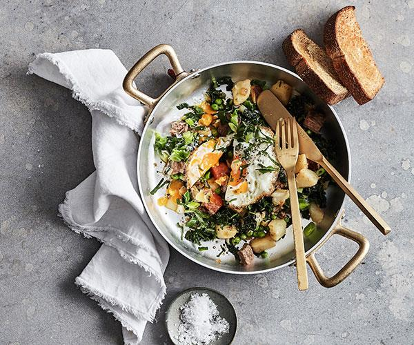 """**[Mike McEnearney's hash with a fried egg](https://www.gourmettraveller.com.au/recipes/fast-recipes/hash-18053 target=""""_blank"""")**"""