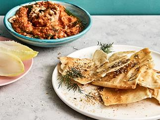 Smoky eggplant and capsicum dip