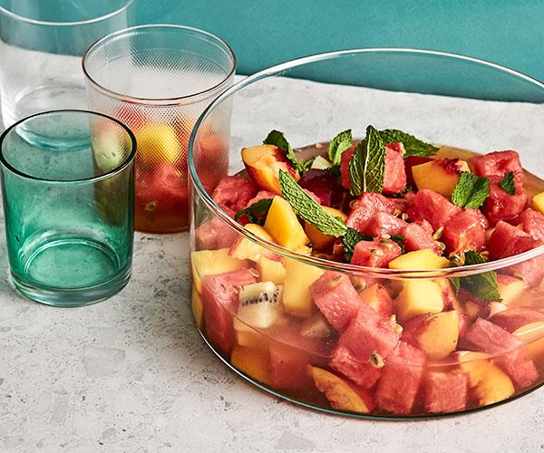 "**[Fruit-salad punch](https://www.gourmettraveller.com.au/recipes/fast-recipes/fruit-salad-punch-18065|target=""_blank"")**"