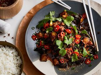 Good Luck Pinbone's sichuan chilli eggplant with wood-ear fungus