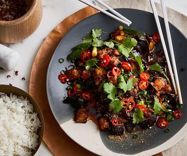 "**[Good Luck Pinbone's Sichuan chilli eggplant with wood-ear fungus](https://www.gourmettraveller.com.au/recipes/chefs-recipes/good-luck-pinbones-sichuan-chilli-eggplant-with-wood-ear-fungus-9319|target=""_blank"")**"