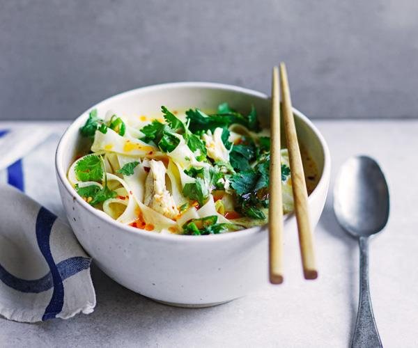 """**[Coconut-chicken soup with turmeric](https://www.gourmettraveller.com.au/recipes/fast-recipes/coconut-chicken-soup-18138
