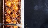 Napier Quarter's frangipane tart with orange and sweet labne
