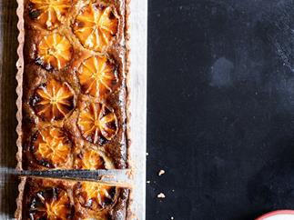 Napier Quarter's frangipane tart with orange and sweet labne