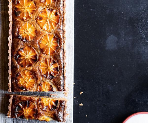 "**[Napier Quarter's frangipane tart with orange and sweet labne](https://www.gourmettraveller.com.au/recipes/chefs-recipes/frangipane-tart-18152|target=""_blank"")**"