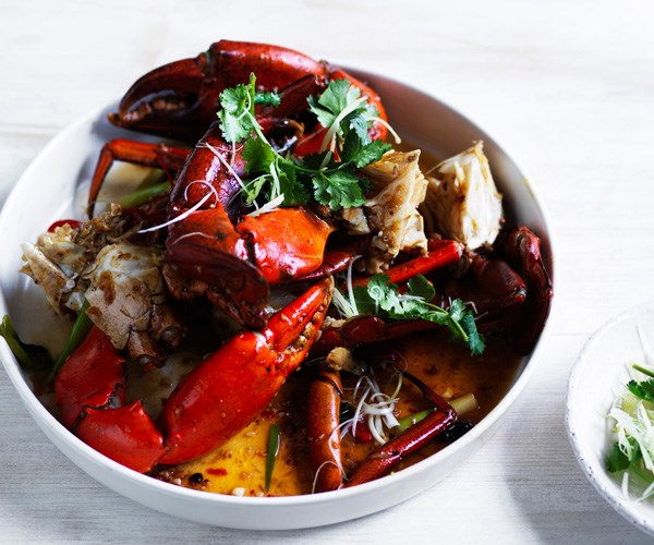 """**[Dan Hong's mud crab with XO sauce](https://www.gourmettraveller.com.au/recipes/chefs-recipes/mud-crab-with-xo-sauce-16619