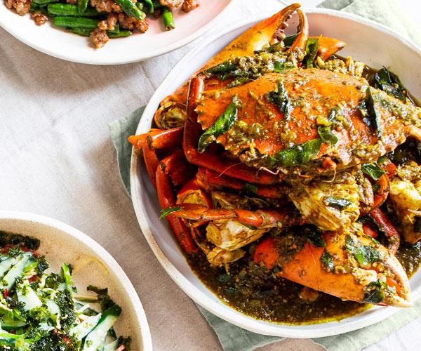 Grandma's Fijian mud crab curry by Louis Tikaram