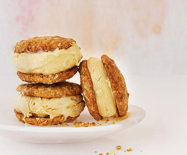 "[**Anzac and golden syrup ice-cream sandwiches**](https://www.gourmettraveller.com.au/recipes/browse-all/anzac-and-golden-syrup-ice-cream-sandwiches-12166|target=""_blank"")"