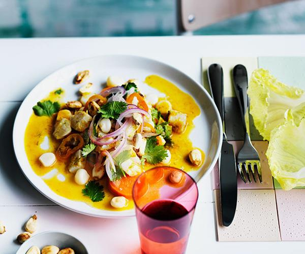 """**[Lima-style ceviche](http://www.gourmettraveller.com.au/recipes/chefs-recipes/lady-carolinas-lima-style-ceviche-9254