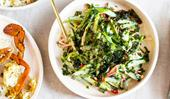 Louis Tikaram's cucumber and snow pea salad