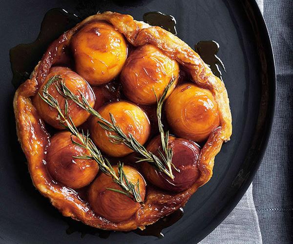 "**[Peach and rosemary tarte Tatin with runny cream](https://www.gourmettraveller.com.au/recipes/browse-all/peach-and-rosemary-tarte-tatin-with-runny-cream-10847|target=""_blank"")**"