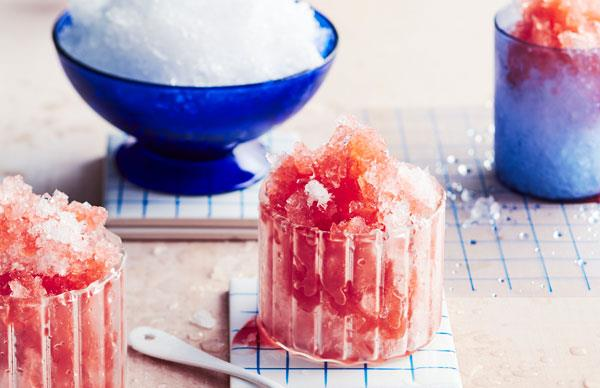 Fragrant plum snow cones