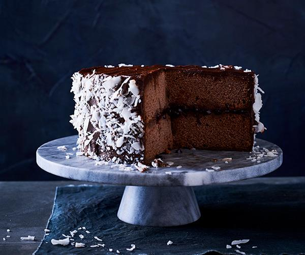 "**[Chocolate lamington cake](https://www.gourmettraveller.com.au/recipes/browse-all/chocolate-lamington-cake-12758|target=""_blank"")**"