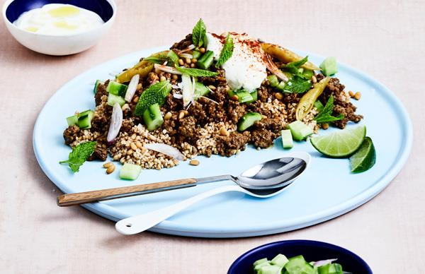 Burghul with spiced lamb