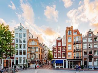 Traditional Dutch buildings.