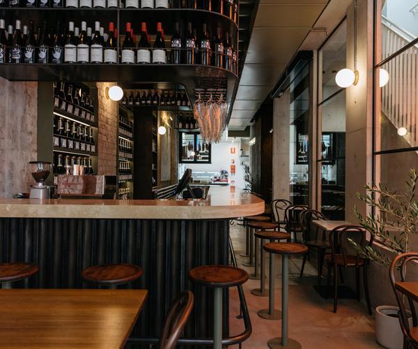 Inside DOC Pizza Sydney.