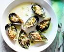 Napier Quarter's mussels dressed with spring-onion and verjuice vinaigrette