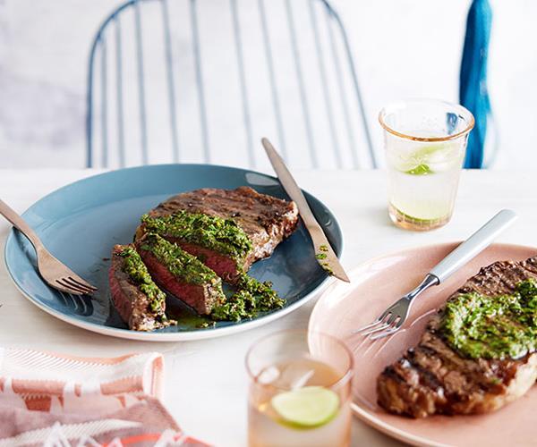 Bife ancho with chimichurri