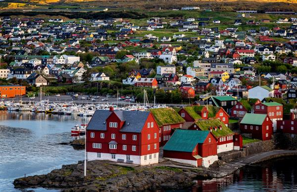 Houses and views in Tórshavn.
