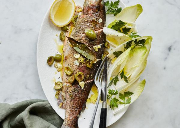 Giovanni Pilu's trout with white wine and rosemary
