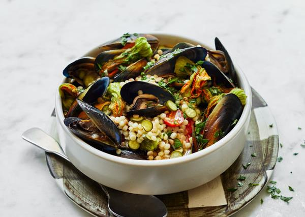 Giovanni Pilu's mussels and fregola