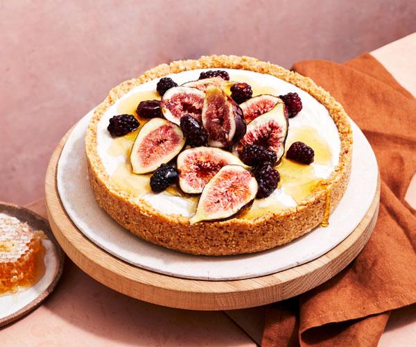 "**[Dairy-free honey and macadamia tart with figs and blackberries](https://www.gourmettraveller.com.au/recipes/browse-all/honey-macadamia-tart-18396|target=""_blank"")**"