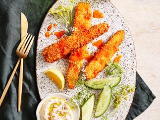 Adam Wolfers' carrot schnitzel