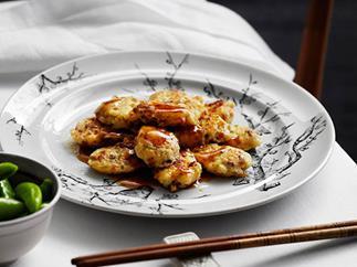Pan-fried pei pa tofu with Chinese sausage and prawns (heung jin pei pa doufu)