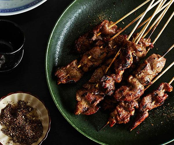 Xinjiang-style lamb skewers