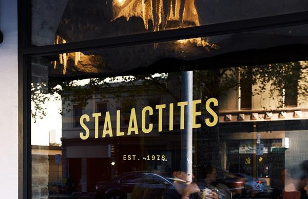 Outside Stalactites restaurant in Melbourne's CBD.