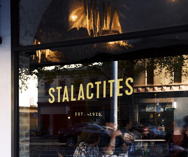 Outside Stalactites restaurant in Melbourne's CBD.