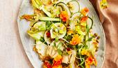 Matt Stone's raw zucchini, pine nut and miso salad
