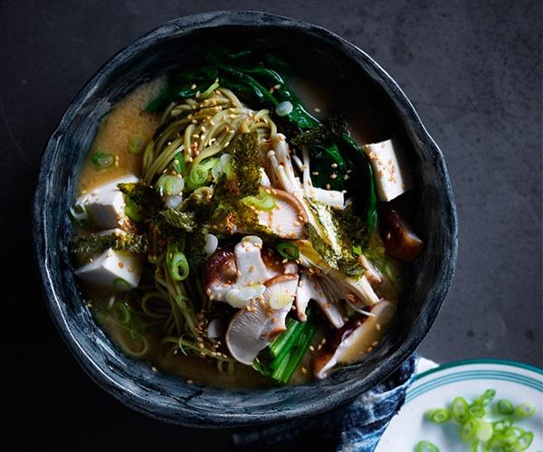 "**[Miso noodle soup with mushrooms and ginger](https://www.gourmettraveller.com.au/recipes/fast-recipes/miso-noodle-soup-with-mushrooms-and-ginger-13817|target=""_blank""