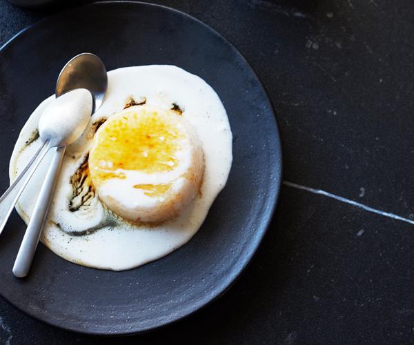"**[Sago pudding](https://www.gourmettraveller.com.au/recipes/fast-recipes/sago-pudding-17095 target=""_blank"" rel=""nofollow"")**"